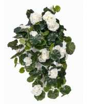 Hobby witte geranium kunstplant hangplant