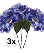 Hobby x blauwe hortensia kunstbloemen tak 10110103