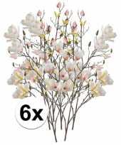 Hobby x creme magnolia kunstbloemen tak 10110123