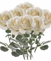 Hobby x creme witte rozen roos kunstbloemen 10142553