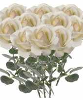 Hobby x creme witte rozen roos kunstbloemen 10142554