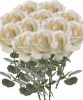 Hobby x creme witte rozen roos kunstbloemen 10142555