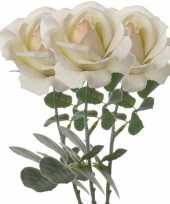 Hobby x creme witte rozen roos kunstbloemen