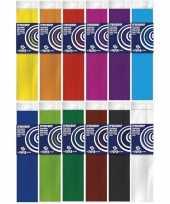Hobby x crepe papier basis pakket knutsel materiaal 10138816