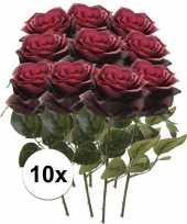 Hobby x donker rode rozen simone kunstbloemen 10107242