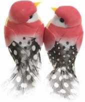 Hobby x fuchsia roze vogels decoraties draad 10247775