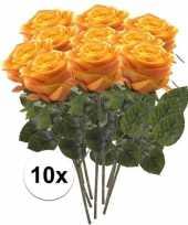 Hobby x geel oranje rozen simone kunstbloemen