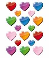 Hobby x gekleurde hartjes figuren stickers 10141391