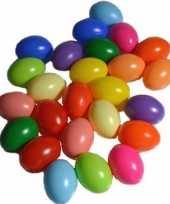 Hobby x gekleurde kunststof eieren decoratie hobby