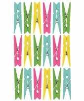 Hobby x gekleurde mini knijpertjes decoratie materiaal 10174708