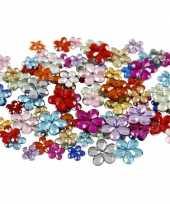 Hobby x gekleurde plak diamantjes bloem