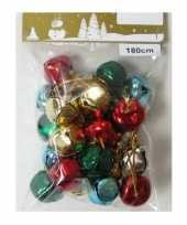 Hobby x gekleurde slingers gekleurde metalen klokjes belletjes