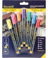 Hobby x gekleurde vloeibare krijtstiften ronde punt mm 10213649