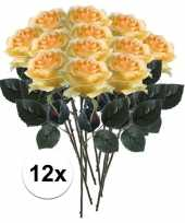 Hobby x gele rozen simone kunstbloemen 10107290