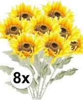 Hobby x gele zonnebloem kunstbloemen 10105887