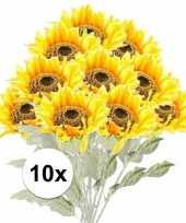Hobby x gele zonnebloem kunstbloemen 10105888
