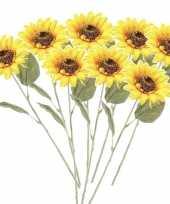 Hobby x gele zonnebloemen kunstbloemen 10143741