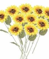 Hobby x gele zonnebloemen kunstbloemen 10143743