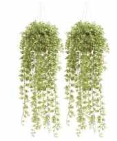 Hobby x groene hedera klimop kunstplanten hangende pot