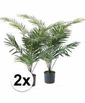 Hobby x groene palmboom kunstplant pot 10110130