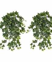 Hobby x groene witte hedera helix klimop kunstplant buiten