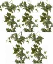 Hobby x groene witte hedera helix klimop kunstplanten slingers 10155826