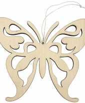 Hobby x houten vlinders ophang decoratie 10230651