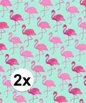 Hobby x inpakpapier flamingo motief rol