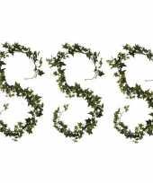 Hobby x klimop hedera kunstplanten slingers groen 10159772
