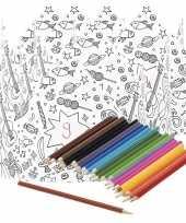 Hobby x knutsel papieren kroontjes om te kleuren incl potloden