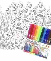 Hobby x knutsel papieren kroontjes om te kleuren incl stiften
