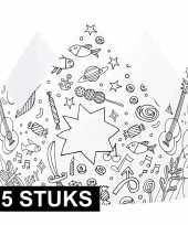 Hobby x knutsel papieren kroontjes om te kleuren kinderen 10158166