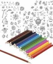 Hobby x knutsel stickervellen om te kleuren incl potloden kids