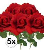 Hobby x kunstbloem roos carol rood 10101789
