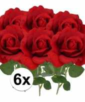 Hobby x kunstbloem roos carol rood 10101790