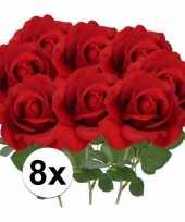 Hobby x kunstbloem roos carol rood 10101791