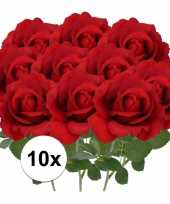 Hobby x kunstbloem roos carol rood 10101792
