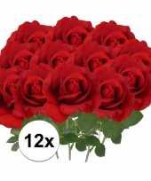 Hobby x kunstbloem roos carol rood 10107179