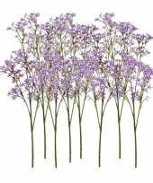 Hobby x kunstbloemen kroonkruid takken paars 10125454