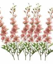 Hobby x kunstbloemen ridderspoor takken roze 10162102