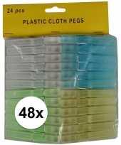 Hobby x kunststof gekleurde wasknijpers