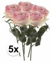 Hobby x licht roze rozen simone kunstbloemen 10107252