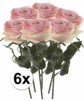 Hobby x licht roze rozen simone kunstbloemen 10107255