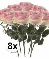 Hobby x licht roze rozen simone kunstbloemen 10107256