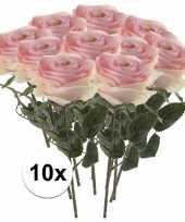 Hobby x licht roze rozen simone kunstbloemen 10107257