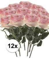 Hobby x licht roze rozen simone kunstbloemen 10107258