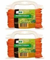 Hobby x oranje touw draad mm meter 10193648