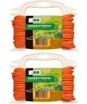 Hobby x oranje touw draad mm meter