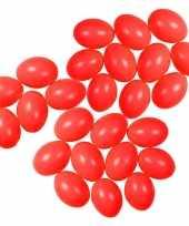 Hobby x rode kunststof eieren decoratie hobby