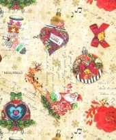 Hobby x rollen kerst inpakpapier cadeaupapier kitsch beige gekleurd meter